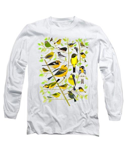 Warblers 1 Long Sleeve T-Shirt by Scott Partridge