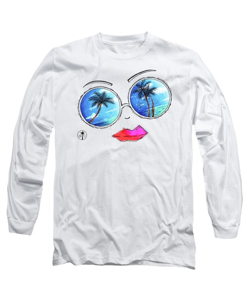 Tropical Reflection Pop Art Painting From The Aroon Melane 2015 Collection By Madart Long Sleeve T-Shirt
