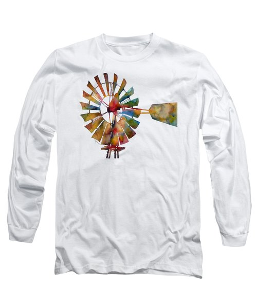 Long Sleeve T-Shirt featuring the painting Windmill by Hailey E Herrera
