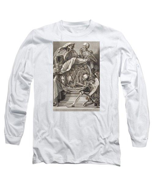 Bernardino Genga - Allegorical Emblems Of Death Long Sleeve T-Shirt