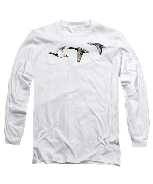 Flying Mallards Long Sleeve T-Shirt