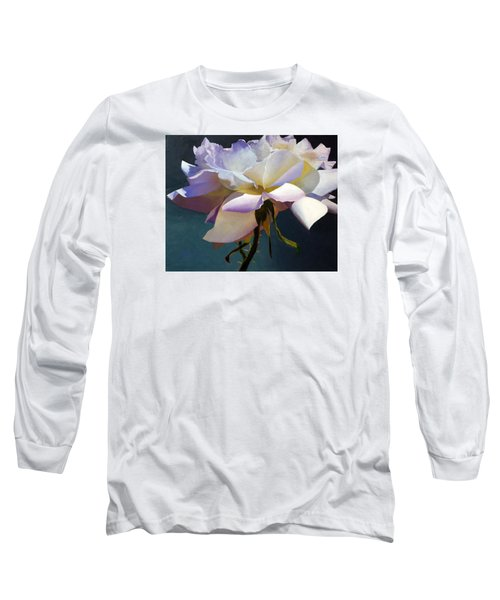 White Rose Of Eden Long Sleeve T-Shirt