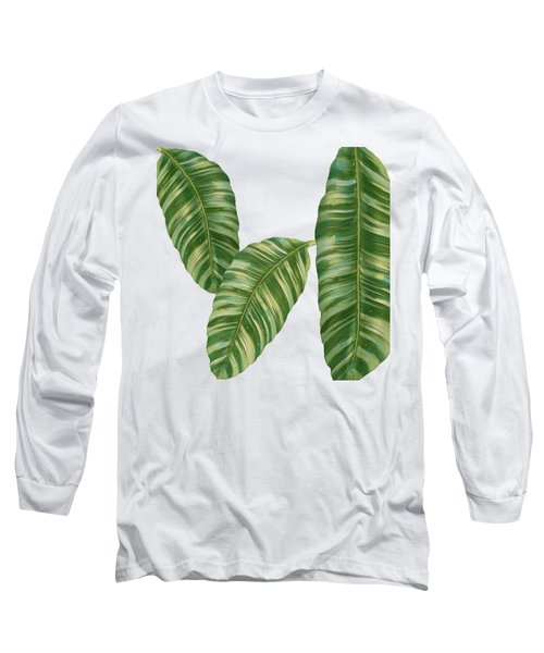 Rainforest Resort - Tropical Banana Leaf  Long Sleeve T-Shirt