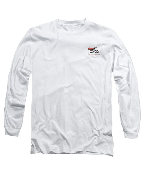 Long Sleeve T-Shirt featuring the digital art Foxtail Logo by Arthur Fix