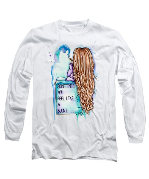 Long Sleeve T-Shirt featuring the painting Long Day by Lizzy Love