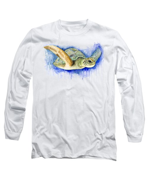 Turtle Long Sleeve T-Shirt by Esther Torres trujillo