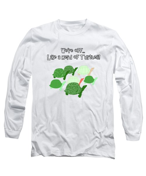 Herd Of Turtles Pattern Long Sleeve T-Shirt