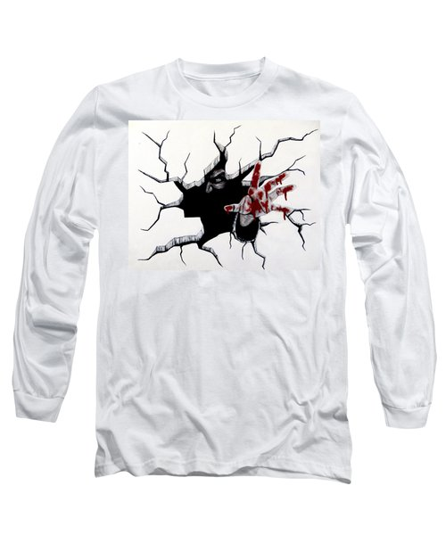 Long Sleeve T-Shirt featuring the painting The Demon Inside by Teresa Wing