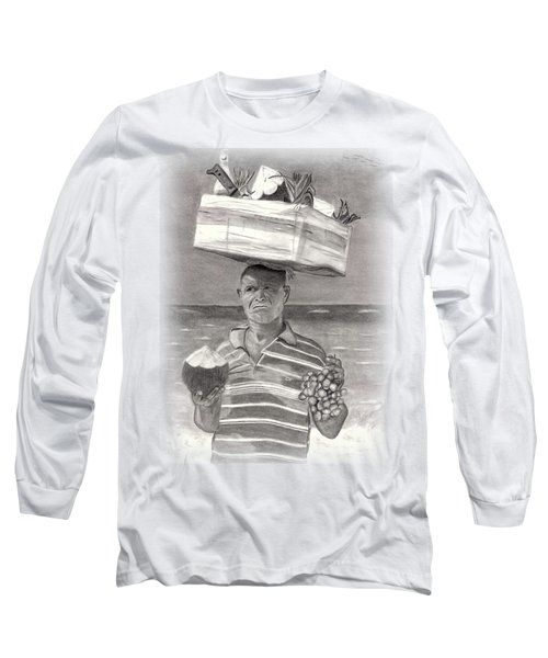 Island Street Vendor Long Sleeve T-Shirt by Tom Podsednik
