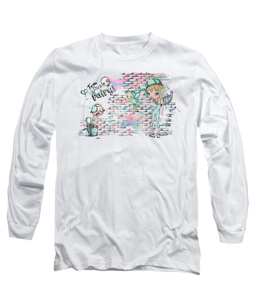 Long Sleeve T-Shirt featuring the painting Tom Dick And Fairy by Lizzy Love