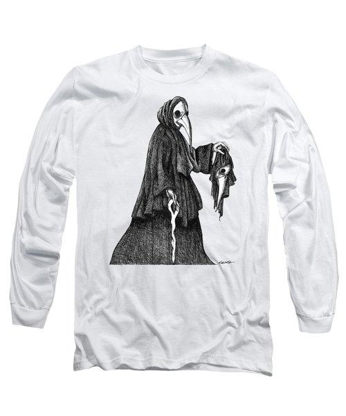 Plague Doctor Long Sleeve T-Shirt by Akiko Okabe
