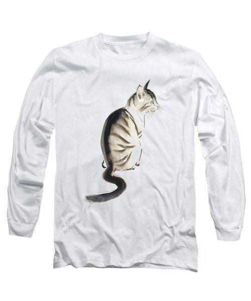 Cat Art 2 Long Sleeve T-Shirt by Melly Terpening