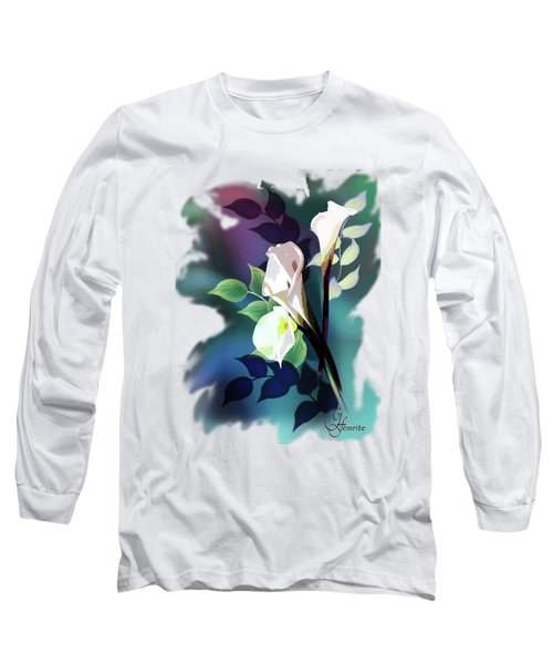 Bouquet In White Long Sleeve T-Shirt