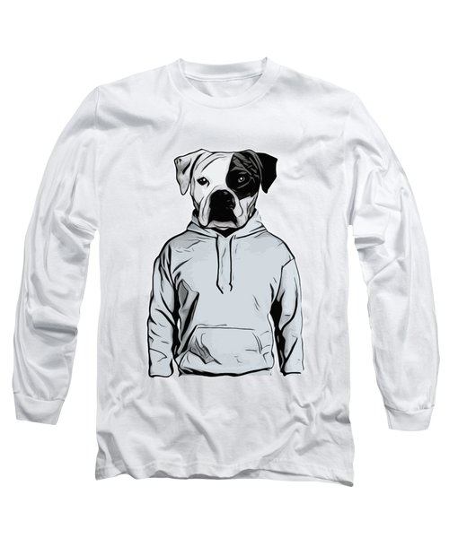 Long Sleeve T-Shirt featuring the painting Cool Dog by Nicklas Gustafsson