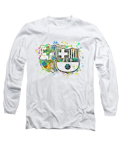 Tribute To F C Barcelona 7 Long Sleeve T-Shirt by Alberto RuiZ