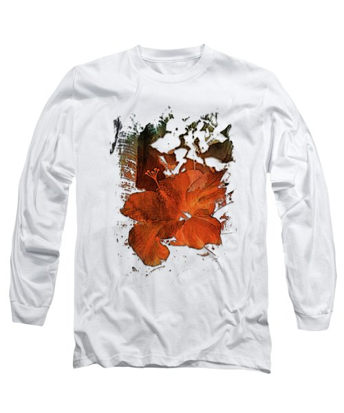 Hibiscus S D Z 2 Earthy Rainbow 3 Dimensional Long Sleeve T-Shirt