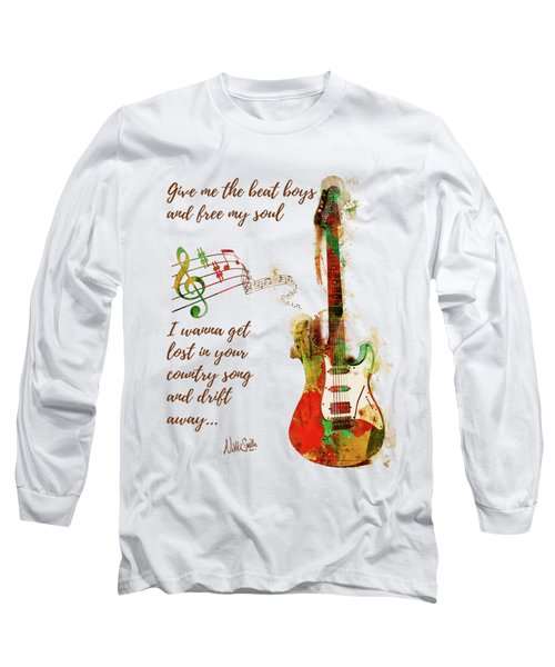 Long Sleeve T-Shirt featuring the digital art Drift Away Country by Nikki Marie Smith