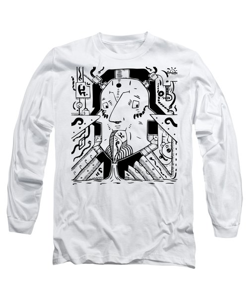 Surrealism Oil Pump Long Sleeve T-Shirt