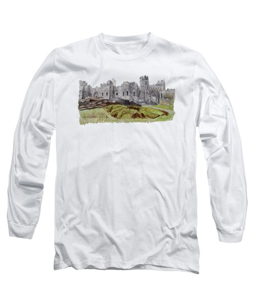 Castle Ward Long Sleeve T-Shirt by Angeles M Pomata