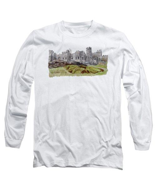 Castle Ward Long Sleeve T-Shirt by Angeles M Pomata