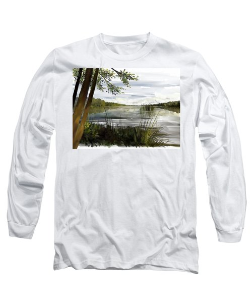 Quiet Day By Lake Long Sleeve T-Shirt