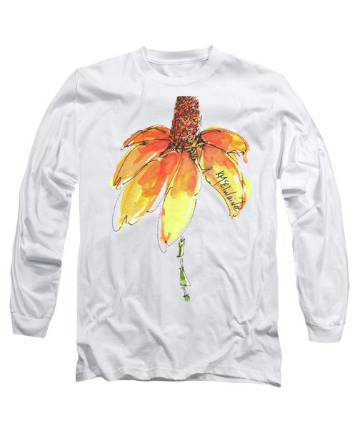 Made For Order Cone Sunflower Long Sleeve T-Shirt by Kathleen McElwaine