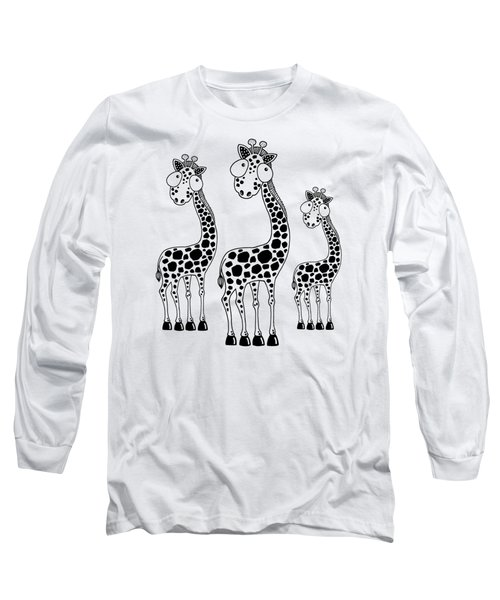 Fudge The Giraffe Long Sleeve T-Shirt by Lucia Stewart