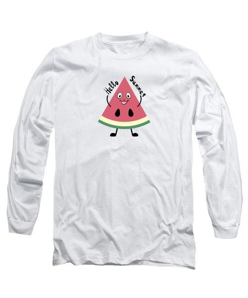 Watermelon Pattern Long Sleeve T-Shirt