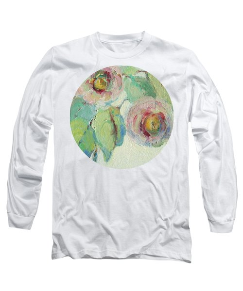 Long Sleeve T-Shirt featuring the painting Impressionist Roses  by Mary Wolf