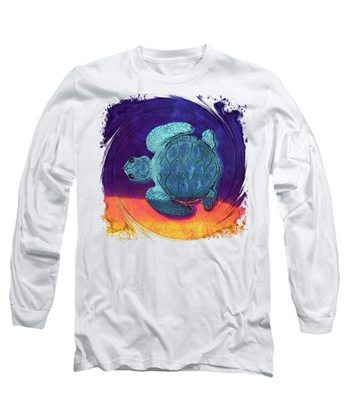 Sea Surfing Long Sleeve T-Shirt by Di Designs