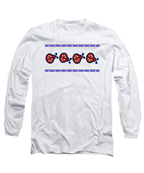 Long Sleeve T-Shirt featuring the digital art Star-spangled Lady Bugs by Methune Hively