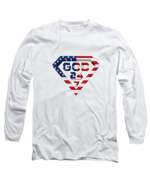 3 D Patriotic Design Long Sleeve T-Shirt by Roshanda Prior