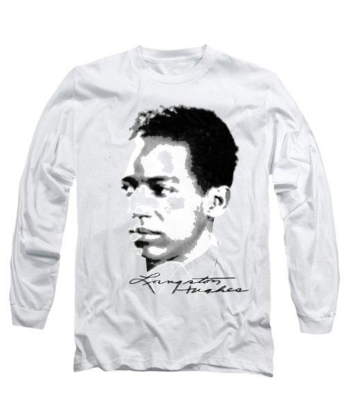 Langston Hughes Long Sleeve T-Shirt by Asok Mukhopadhyay