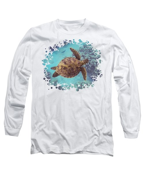 Swimming Honu From Above Long Sleeve T-Shirt