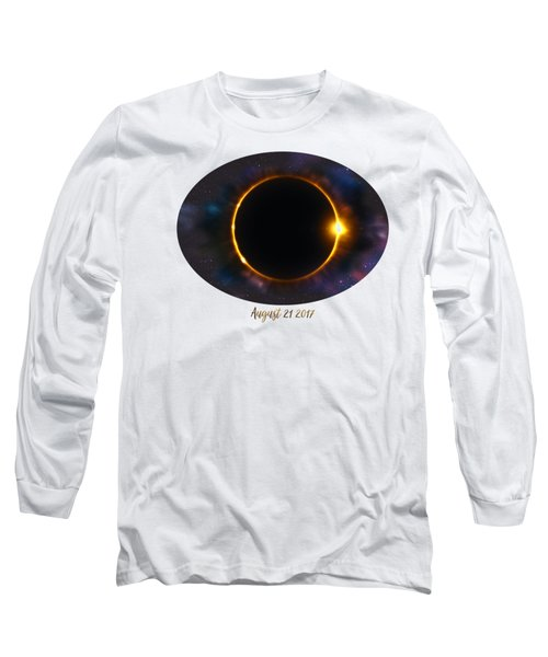 Total Solar Eclipse In Space Long Sleeve T-Shirt