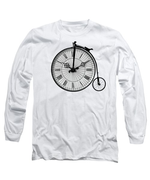 Time To Ride Penny Farthing Long Sleeve T-Shirt