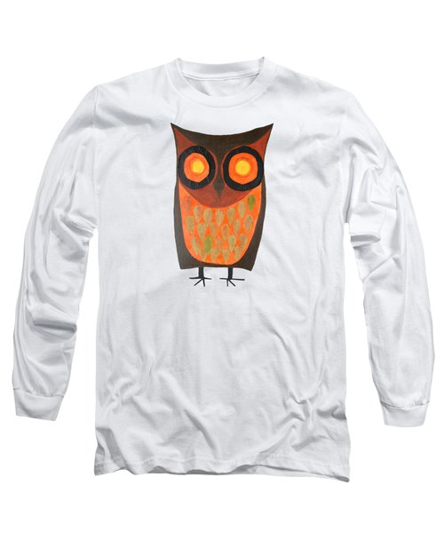 Give A Hoot Orange Owl Long Sleeve T-Shirt