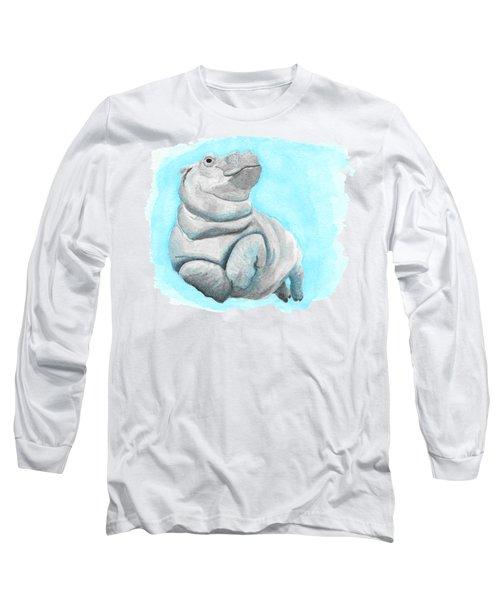Baby Hippo Underwater Fantasia Ballet Long Sleeve T-Shirt
