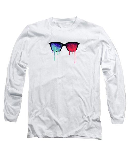 3d Psychedelic / Goa Meditation Glasses Long Sleeve T-Shirt