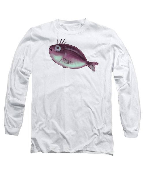 Funny Fish With Fancy Eyelashes Long Sleeve T-Shirt