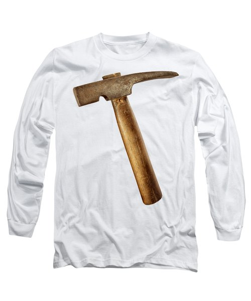 Antique Plumb Masonry Hammer On Color Paper Long Sleeve T-Shirt