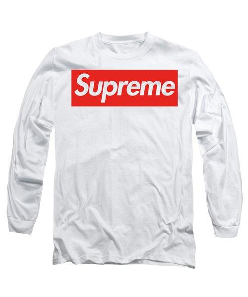 Louis Vuitton X Supreme Long Sleeve T-Shirt