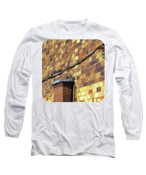 Bricks And Wires Long Sleeve T-Shirt by Ethna Gillespie