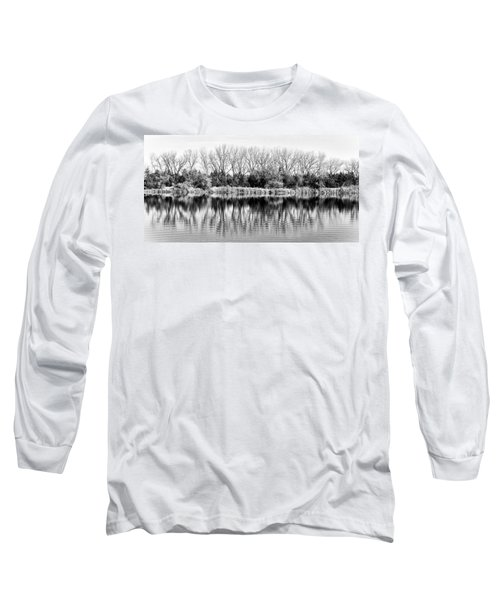 Rippled Reflection Long Sleeve T-Shirt by Bill Kesler