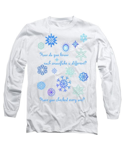 Snowflakes Long Sleeve T-Shirt by Methune Hively