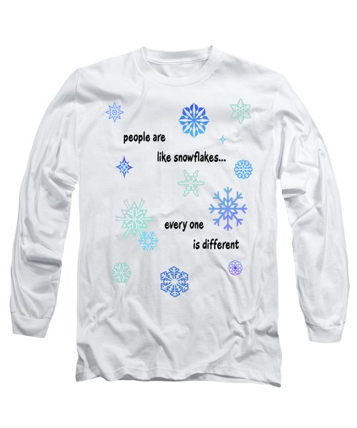 Snowflakes 3 Long Sleeve T-Shirt by Methune Hively