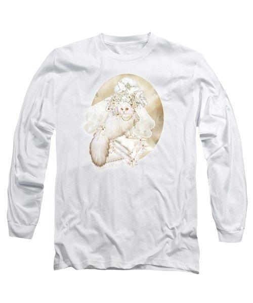 Cat In Fancy Bridal Hat Long Sleeve T-Shirt