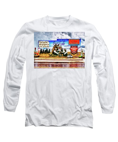 Large North Platte Wall Mural Long Sleeve T-Shirt by Bill Kesler