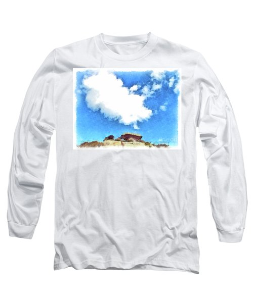 Arzachena Mushroom Rock With Cloud Long Sleeve T-Shirt