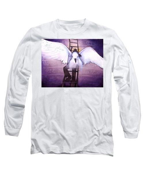 Long Sleeve T-Shirt featuring the painting Ascension by Christopher Marion Thomas